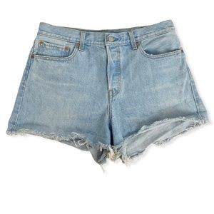 Levi's Light Wash Button Fly Cutoff Wedgie Shorts